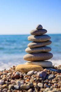 Spa Steine in Balance